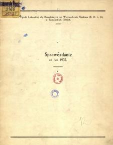 Sprawozdanie za rok 1932