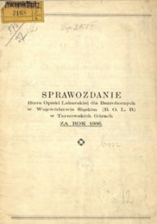 Sprawozdanie Biura Opieki Lekarskiej dla Bezrobotnych w Województwie Śląskim (B. O. L. B.) w Tarnowskich Górach za Rok 1936