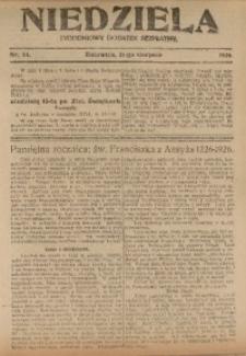 Niedziela, 1926, Nr. 34