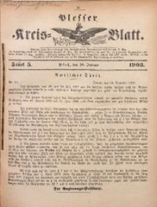 Plesser Kreis-Blatt, 1903, St. 5