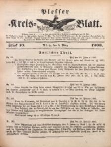 Plesser Kreis-Blatt, 1903, St. 10