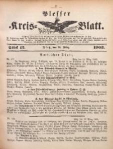 Plesser Kreis-Blatt, 1903, St. 12