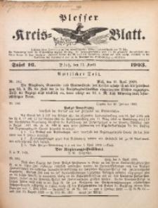 Plesser Kreis-Blatt, 1903, St. 16