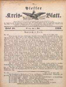 Plesser Kreis-Blatt, 1903, St. 18