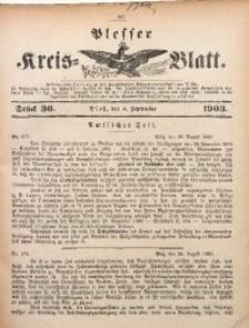 Plesser Kreis-Blatt, 1903, St. 36