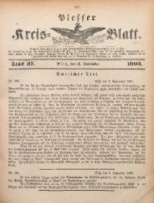 Plesser Kreis-Blatt, 1903, St. 37