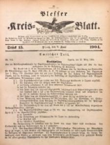 Plesser Kreis-Blatt, 1904, St. 15