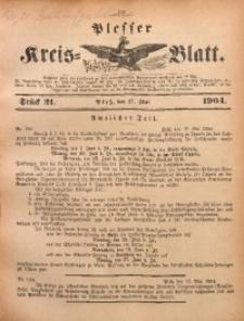 Plesser Kreis-Blatt, 1904, St. 21