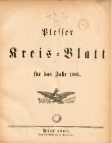 Sachregister zum Plesser Kreisblatt. Jg. 1905