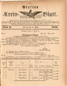 Plesser Kreis-Blatt, 1905, St. 11