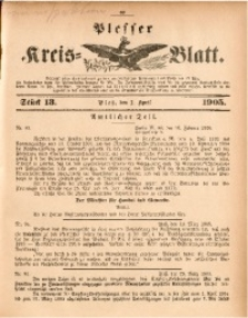 Plesser Kreis-Blatt, 1905, St. 13