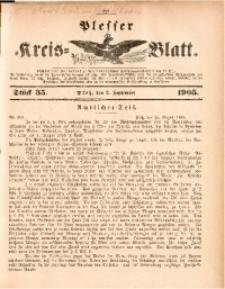 Plesser Kreis-Blatt, 1905, St. 35