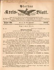 Plesser Kreis-Blatt, 1905, St. 39
