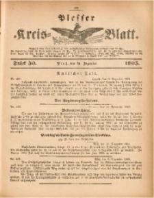 Plesser Kreis-Blatt, 1905, St. 50