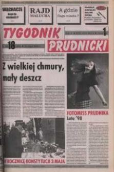 Tygodnik Prudnicki : gazeta powiatowa : Prudnik, Biała, Korfantów, Głogówek, Lubrza. R. 9, nr 18 (389).