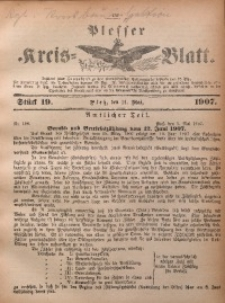 Plesser Kreis-Blatt, 1907, St. 19