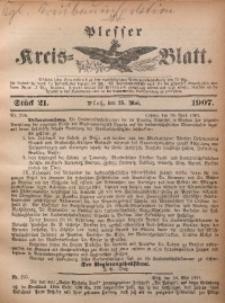 Plesser Kreis-Blatt, 1907, St. 21