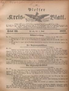 Plesser Kreis-Blatt, 1907, St. 22