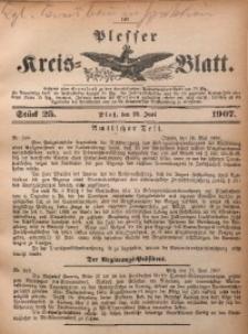 Plesser Kreis-Blatt, 1907, St. 25