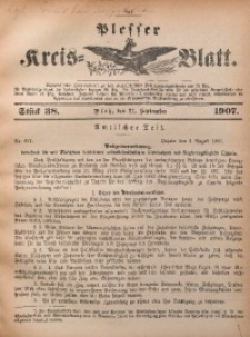 Plesser Kreis-Blatt, 1907, St. 38