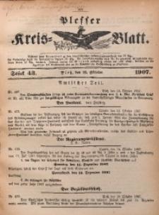 Plesser Kreis-Blatt, 1907, St. 43