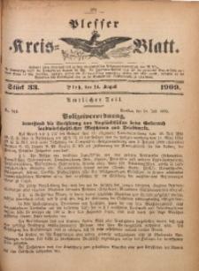 Plesser Kreis-Blatt, 1909, St. 33