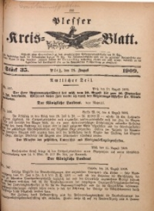 Plesser Kreis-Blatt, 1909, St. 35