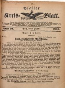 Plesser Kreis-Blatt, 1909, St. 50