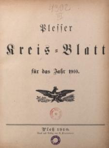Inhalts-Verzeichnis fürs Kreisblatt 1910