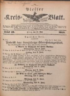 Plesser Kreis-Blatt, 1910, St. 19