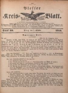 Plesser Kreis-Blatt, 1910, St. 39