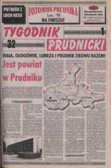Tygodnik Prudnicki : gazeta powiatowa : Prudnik, Biała, Korfantów, Głogówek, Lubrza. R. 9, nr 32 (403).