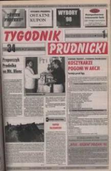 Tygodnik Prudnicki : gazeta powiatowa : Prudnik, Biała, Korfantów, Głogówek, Lubrza. R. 9, nr 34 (405).