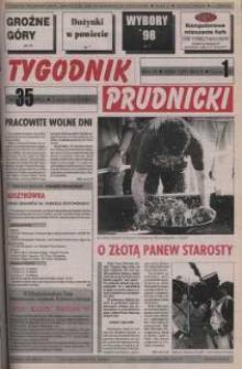 Tygodnik Prudnicki : gazeta powiatowa : Prudnik, Biała, Korfantów, Głogówek, Lubrza. R. 9, nr 35 (406).