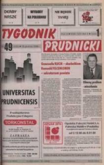 Tygodnik Prudnicki : gazeta powiatowa : Prudnik, Biała, Korfantów, Głogówek, Lubrza. R. 9, nr 49 (420).