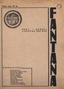 Fantana 1938, R. 1, nr 1