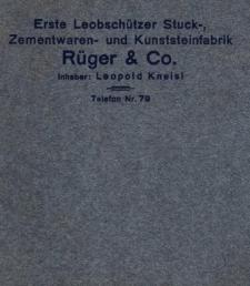 Erste Leobschützer Stuck-, Zementwaren- und Kunststeinfabrik Rüger & Co.