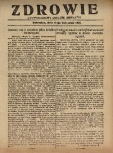 Zdrowie, 16 listopada 1926