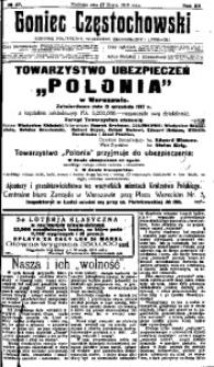 Goniec Częstochowski, 1918, R. 13, No 47