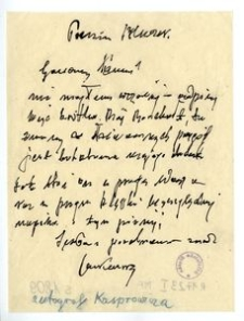 List Jana Kasprowicza