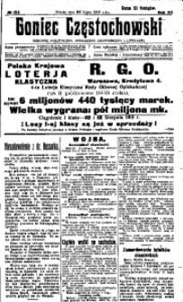 Goniec Częstochowski, 1918, R. 13, No 154