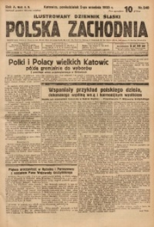 Polska Zachodnia, 1935, R. 10, nr 240