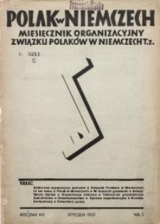 Polak w Niemczech, 1937, R. 14, Nr. 1