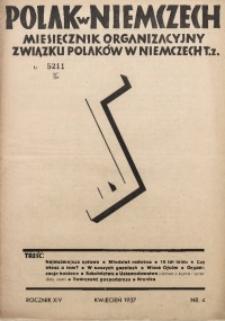 Polak w Niemczech, 1937, R. 14, Nr. 4