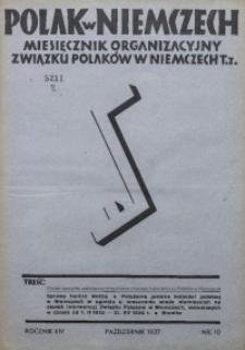 Polak w Niemczech, 1937, R. 14, Nr. 10