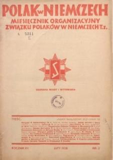 Polak w Niemczech, 1938, R. 15, Nr. 2