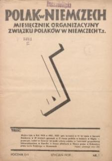 Polak w Niemczech, 1939, R. 16, Nr. 1