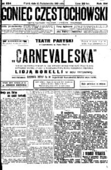 Goniec Częstochowski, 1919, R. 14, No 224
