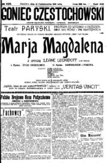 Goniec Częstochowski, 1919, R. 14, No 226