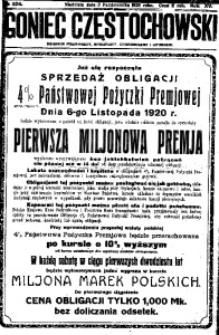 Goniec Częstochowski, 1920, R. 15, No 226